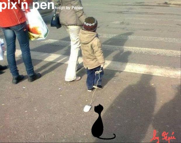 jouer au chat et à la souris by pixnpen