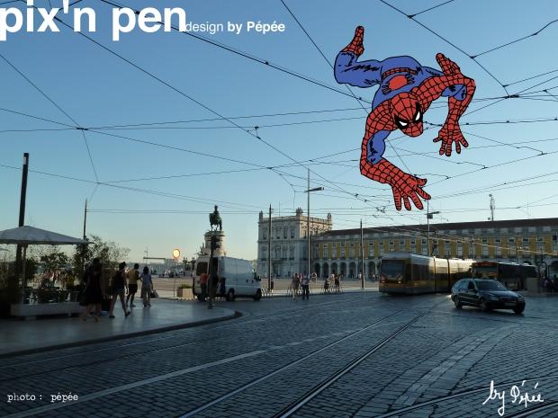 spiderman à lisbonne by pixnepen