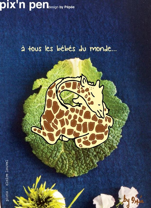 girafe choux by pixnpen